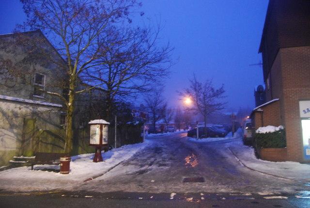 Icy Entrance to Camden Rd Car Park