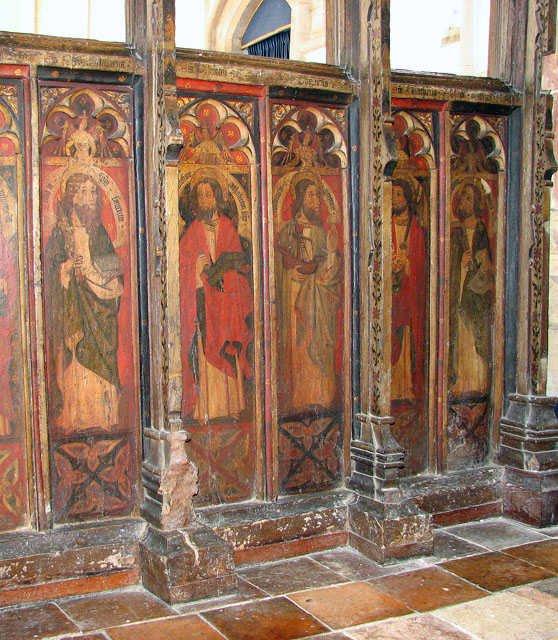 St George's church - C15 rood screen panels