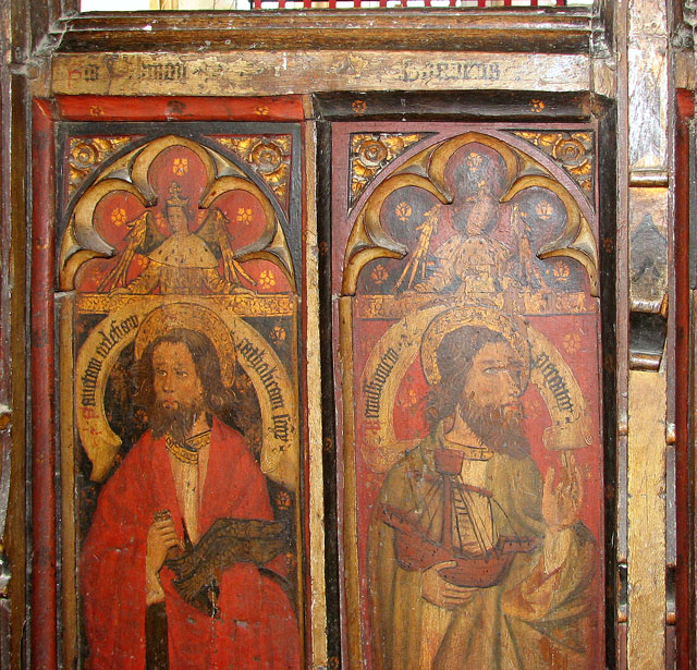 St George's church - C15 rood screen panels (detail)