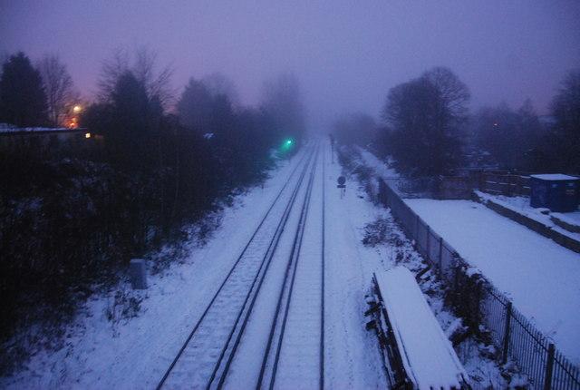 Darkness, snow & fog shroud the line