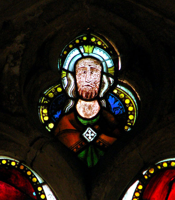 St George's church - medieval glass in south aisle east window