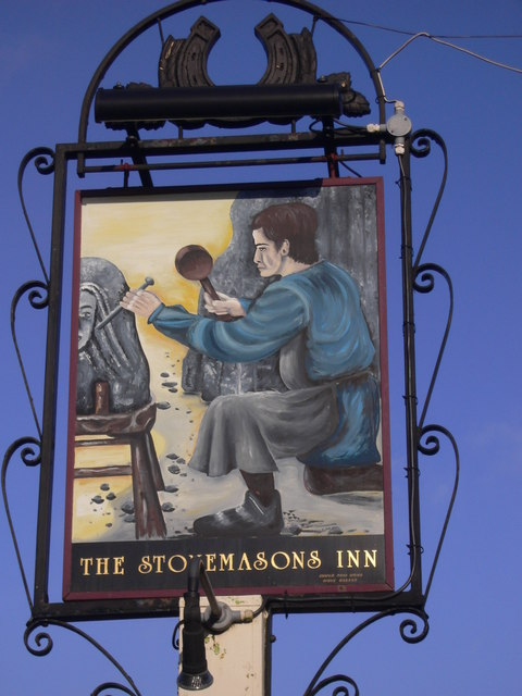 Sign at The Stonemasons Inn