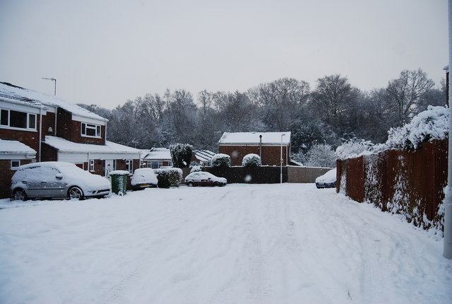 Thick snow, St Michael's Rd