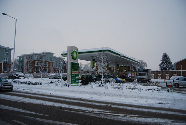 BP filling station, St John's Rd