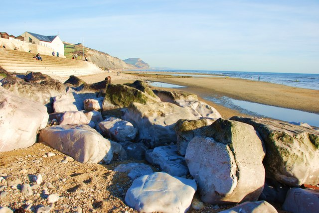 Charmouth beach and amenities