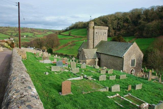 The Church of Saint Winifred, Branscombe, Devon