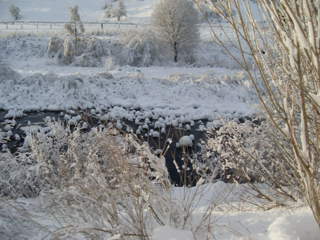 Glenmuir Water with snow