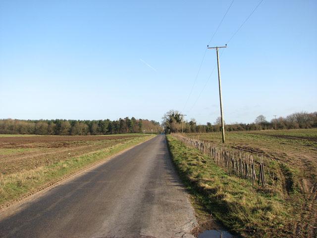 Unnamed lane east of Foulden