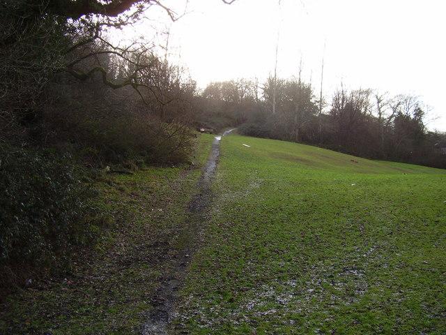 A muddy footpath