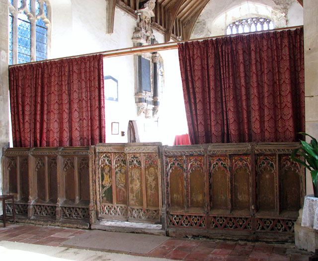 All Saints church - C15 rood screen dado