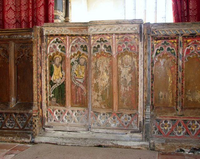 All Saints church - C15 rood screen doors