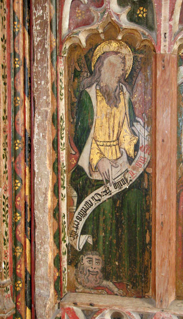 All Saints church - C15 rood screen panel