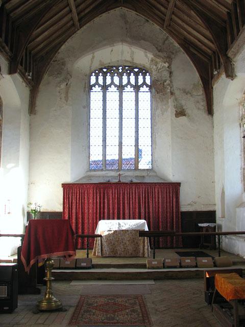 All Saints church - the chancel