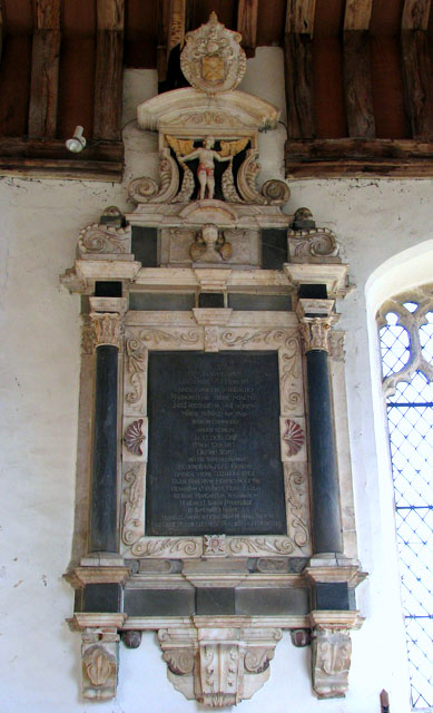All Saints church - C17 wall monument