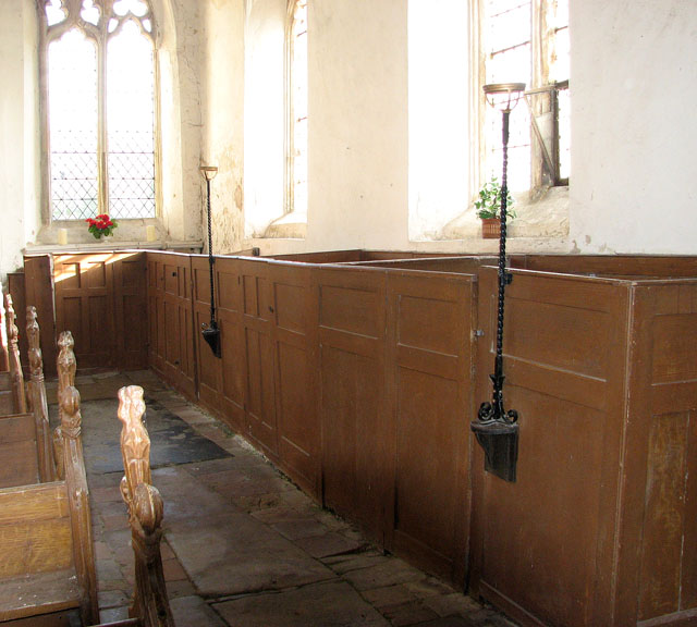 All Saints church - C18 box pews in south aisle