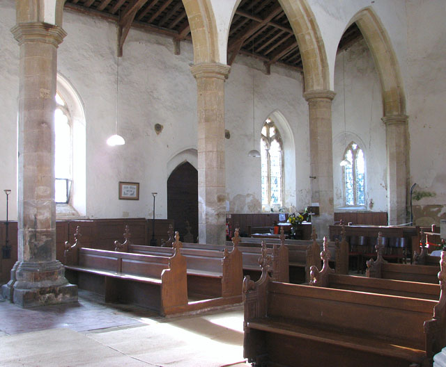 All Saints church - nave and south arcade