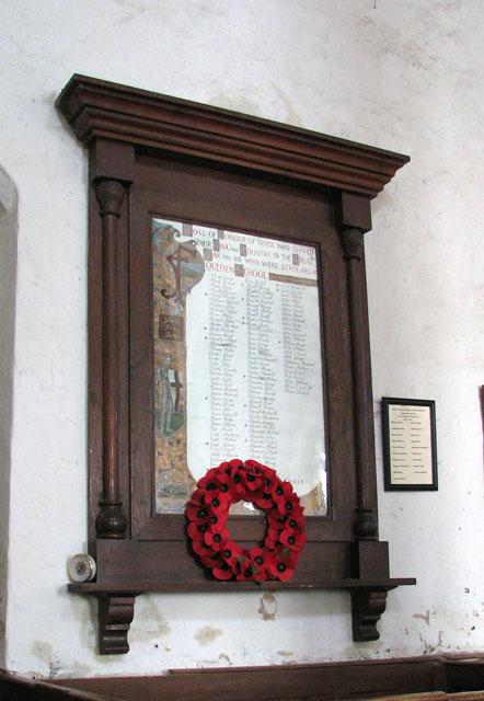 All Saints church - war memorial