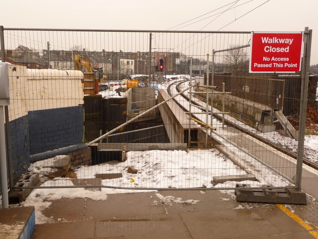 Harlesden: platform renewal at Willesden Junction