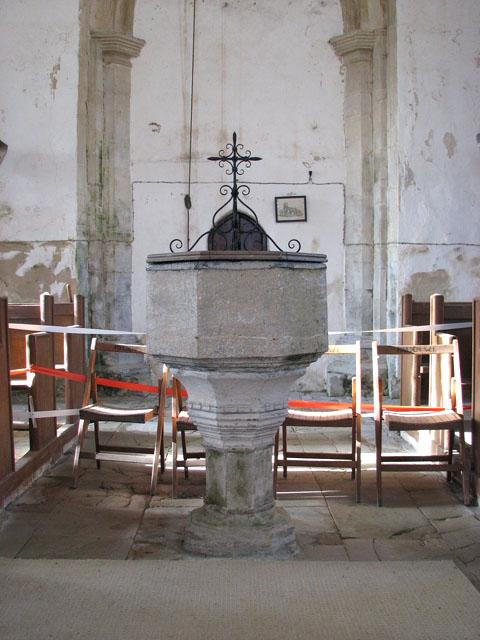 All Saints church - C15 baptismal font