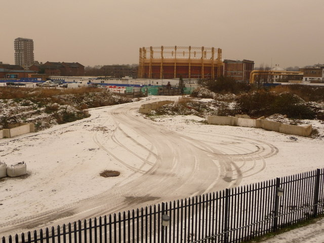 Chelsea: gasworks and snow