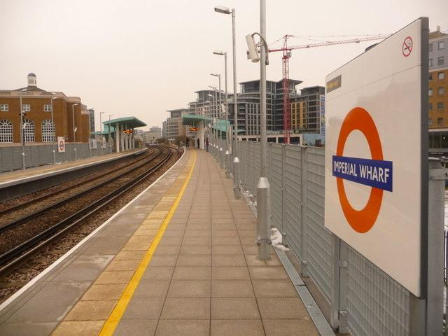 Chelsea: northbound platform, Imperial Wharf