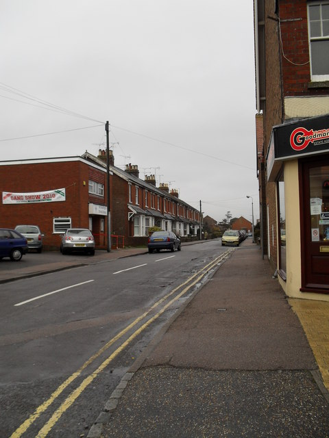 Looking from The Street into Church Road
