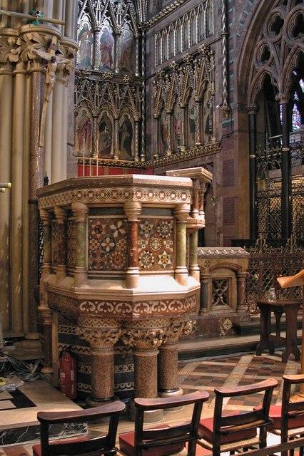 All Saints, Margaret Street, London W1 - Pulpit