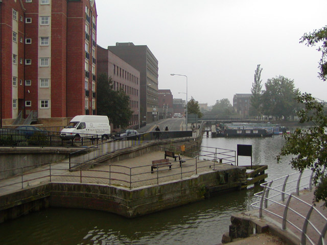 Site of the old swing bridge at the Brayford