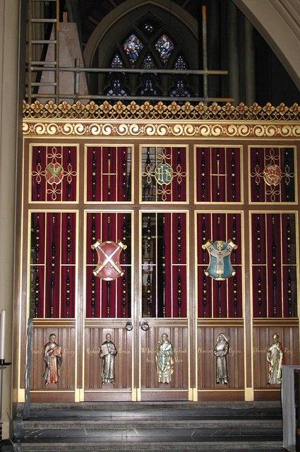 All Saints, Margaret Street, London W1 - Screen