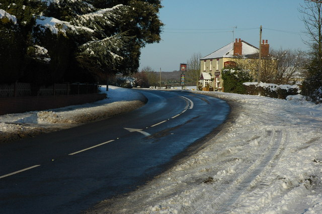 The A4104 in Defford