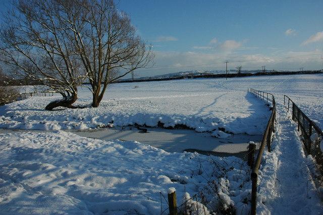 Footbridge over Bow Brook, Defford