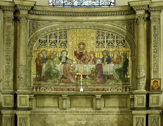 Holy Trinity, Great Portland Street, London W1 - Reredos