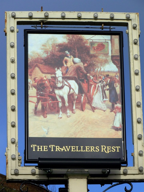 Sign for the Travellers Rest