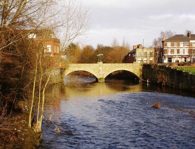River Irwell, Radcliffe Bridge.