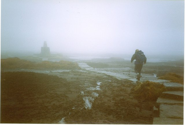 Approaching the summit of the Cheviot