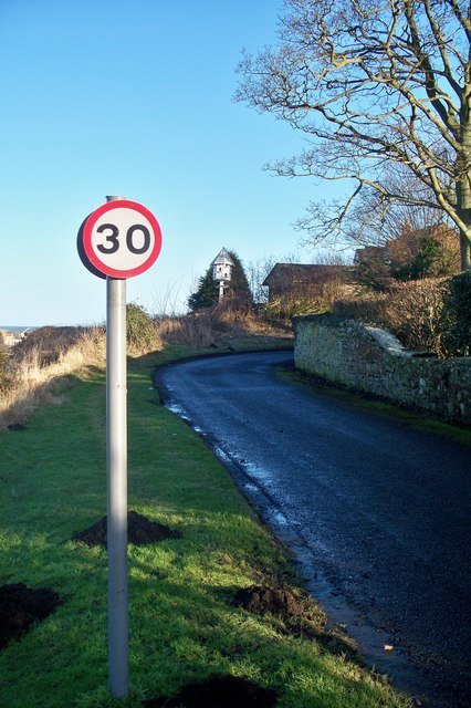 Speed limit over Gloster Hill.
