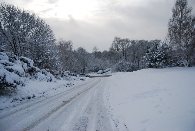 Castle Road in icy conditions
