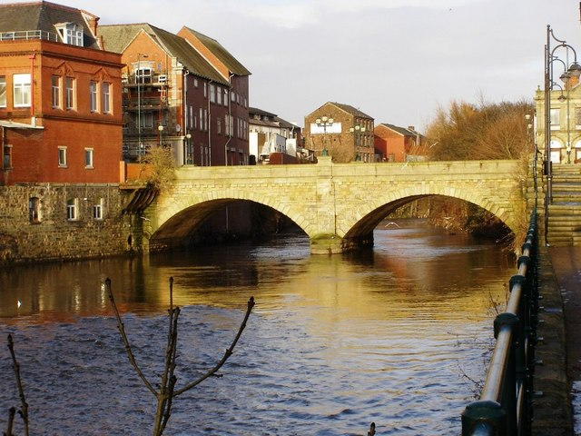 River Irwell, Radcliffe Bridge