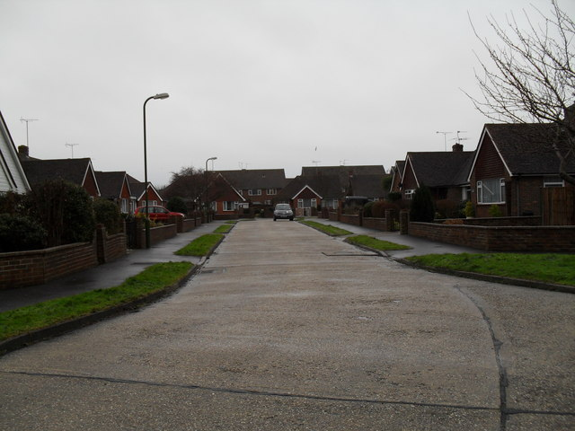 Looking from the junction with Kirkland Close to the far end of Parry Drive