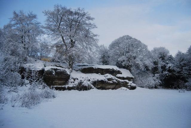 Winters scene, Mount Edgcumbe Rocks