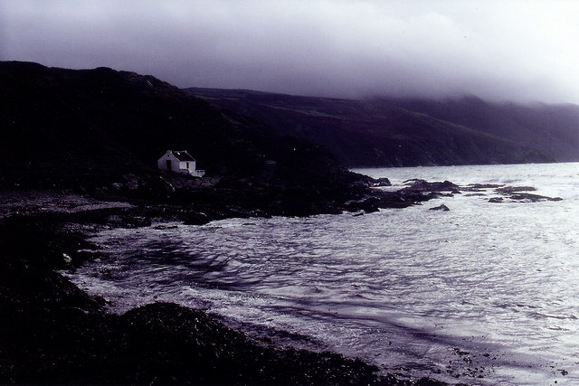 Niarbyl - Thatched fisherman's cottage in misty air