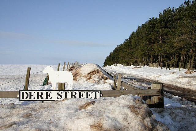 Dere Street Farm sign