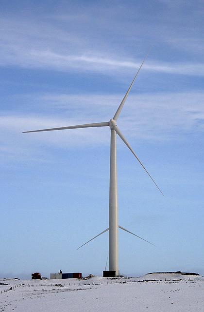 Turbine number 2 at Toddleburn Wind Farm