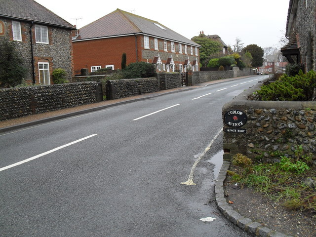 Looking from Cudlow Avenue into Sea Lane