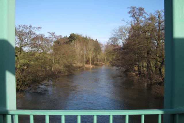 River Avon above the bridge, NAC northern entrance