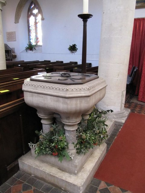 Font in the church