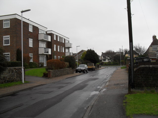 Looking along Holmes Lane towards Sea Lane