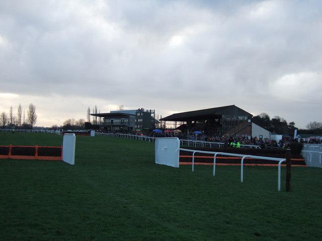 On the home straight, Fakenham racecourse