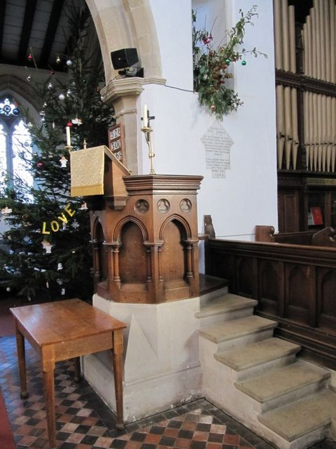 Steps to the pulpit