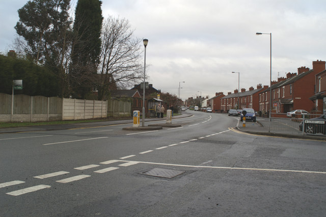 Junction of Gorsey Lane with the A569